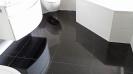Badezimmer Schwarz Weiß Hochglanz